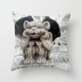 Little Gargoyle Throw Pillow