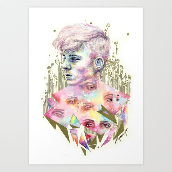 Who Broke You? Art Print