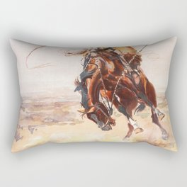A Bad Hoss Charles Marion Russell Rectangular Pillow
