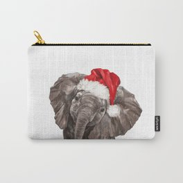 Christmas Baby Elephant Carry-All Pouch