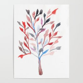 Watercolour Tree 6 |Modern Watercolor Art | Abstract Watercolors Poster