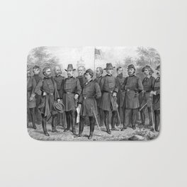 Union Generals of The Civil War Bath Mat