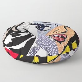 Lichtenstein's Girl Floor Pillow