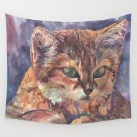 meow Wall Tapestries featuring Meow by Emma Reznikova