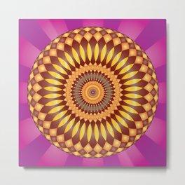 Fulfillment Mandala - מנדלה הגשמה Metal Print