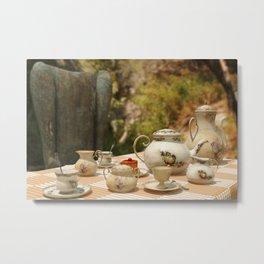 A Mad Tea Party - Alice in Wonderland Art Metal Print
