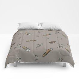 Smoky cigar pattern Comforters