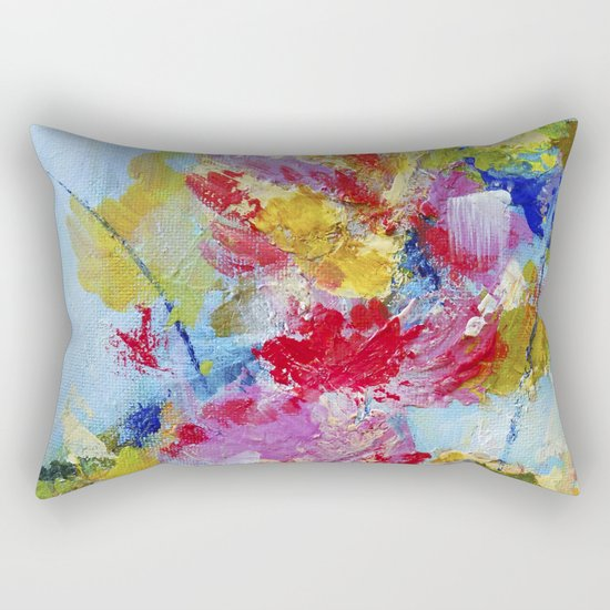 Abstract floral painting 5 Rectangular Pillow