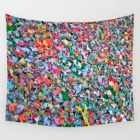 blanket Wall Tapestries featuring Autumn Blanket by Angela Pesic