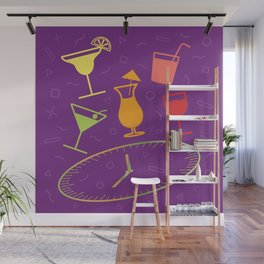Happy Hour Cocktail Wall Mural