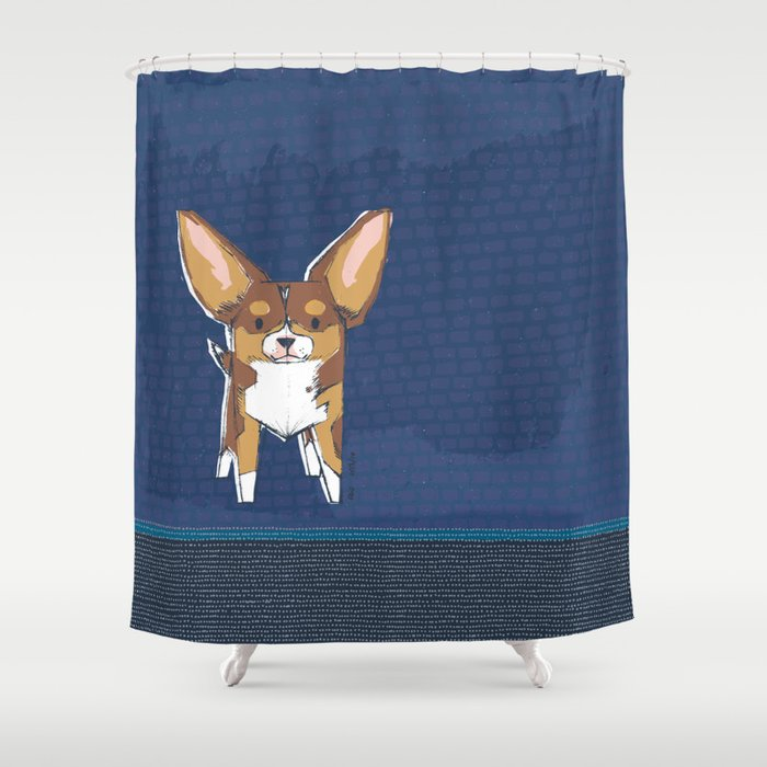 Tibby by Friztin Shower Curtain