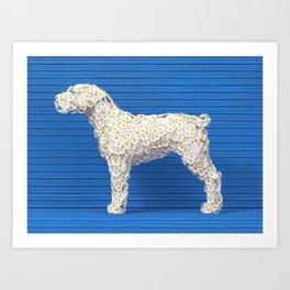 Daisy Dog Art Print