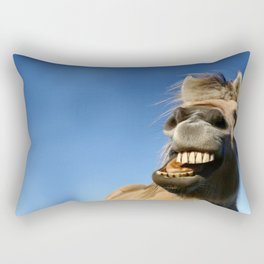Happy Horse Photography Print Rectangular Pillow