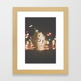 Snowman Framed Art Print