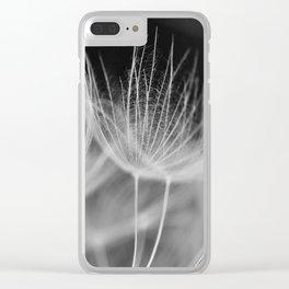Dandelion Closeup in Black White Clear iPhone Case