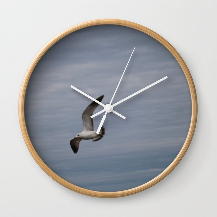 Seagull Wall Clock By Katumba47 Society6