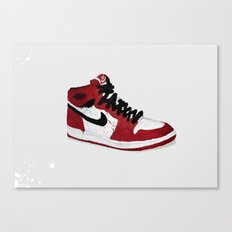 Nike Air Force 1 - Retro - Red & Black & White Canvas Print