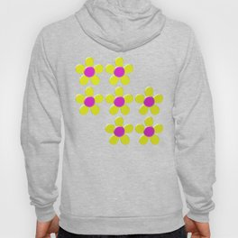 Spring Daisies Jelly Art - Yellow Pink Turquoise Hoody