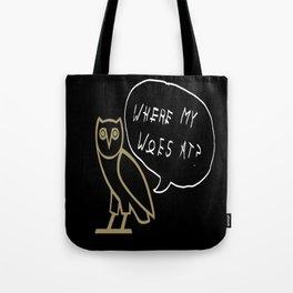 Woes Tote Bag