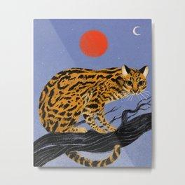 Jaguatirica (Ocelot) Metal Print