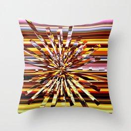 Energy Burst Throw Pillow