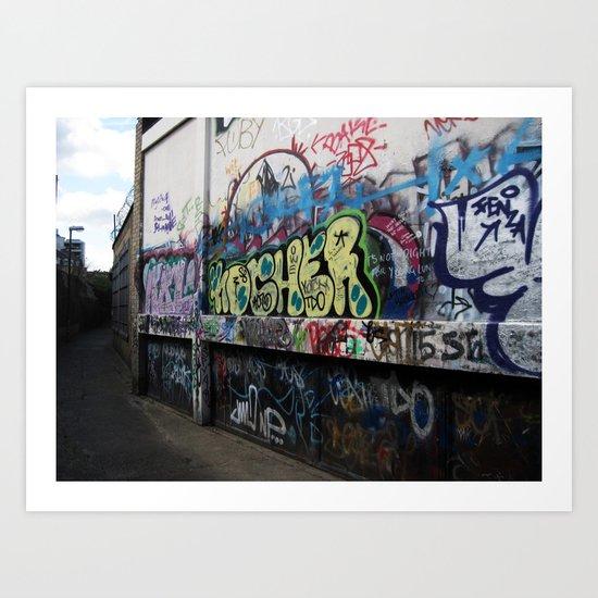 Hare Row - Graffiti  Art Print