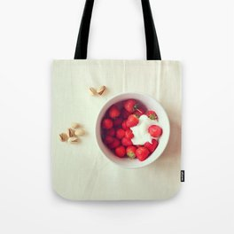 Strawberries & Creme Tote Bag