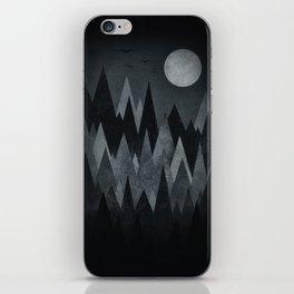 Dark Mystery Abstract Geometric Triangle Peak Wood's (black & white) iPhone Skin