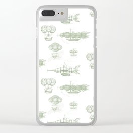 Airship Pattern Clear iPhone Case