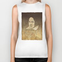 shakespeare Biker Tanks featuring William Shakespeare by Vi Sion