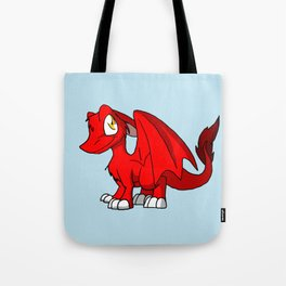 Red SD Furry Dragon Tote Bag