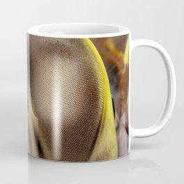 Dragonfly extreme macro portrait of the compound eye Coffee Mug