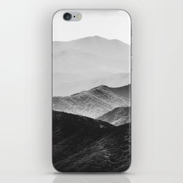 Glimpse - Black and White Mountains Landscape Nature Photography iPhone Skin