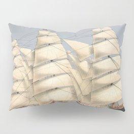 Vintage Ship Art - Nautcal Decor Pillow Sham