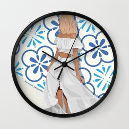 Summer Trip to Lisbon, Portugal Wall Clock