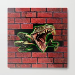 The Reptile Come Back Metal Print