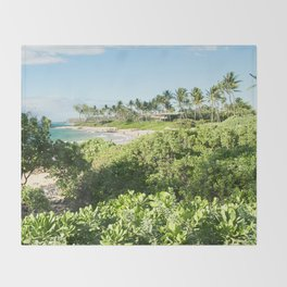 Mokapu Ulua Beach Wailea Maui Hawaii Throw Blanket