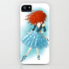 Red - Haired Lass iPhone Case