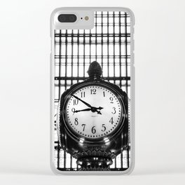 Clock in Grand Central Terminal Clear iPhone Case