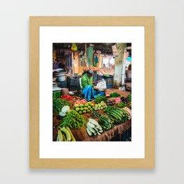 Pondicherry Market Framed Art Print