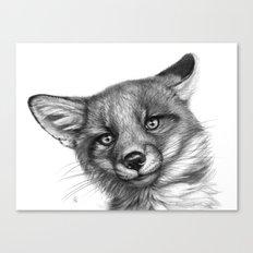 Fox Cub G139 Canvas Print