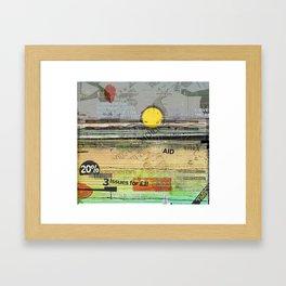 Pepperoni Sunset Framed Art Print