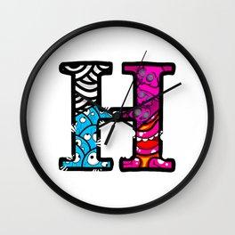 initial H Wall Clock