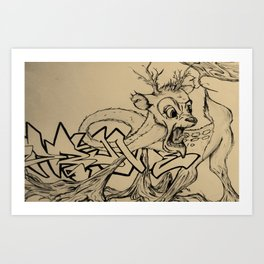 Brittle Bambi Art Print