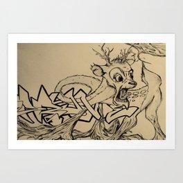 Brittle Bambi Art Print