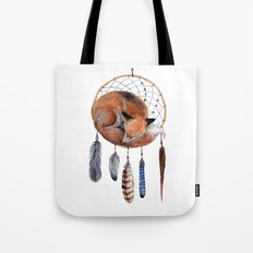 Fox Dreamcatcher Tote Bag