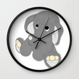 Stuffed Elephant Wall Clock