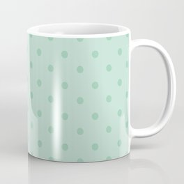 Geometric mint green modern polka dots pattern Coffee Mug