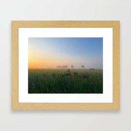 Par un matin de brume Framed Art Print