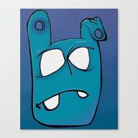 no face Canvas Prints featuring Face by Chris Napolitano